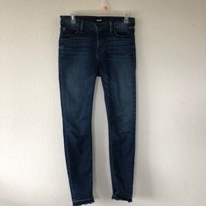 Hudson dark wash high waisted skinny jeans
